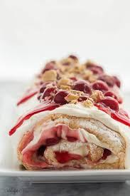 Cherry Cheesecake Angel Food Cake Roll