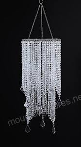 flavorthings 2 tiers 20 5 tall clear beaded hanging chandelier great idea for wedding chandeliers centerpieces