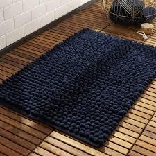 cirrus navy bath mat