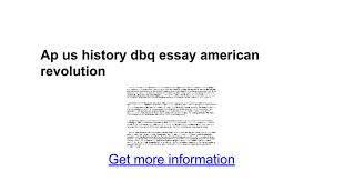 ap us history dbq essay american revolution google docs
