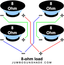 jumbo sunshade speaker wiring diagrams four 8 ohm speakers wired series parallel equaling an 8 ohm load