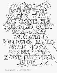 John 316 Printable Coloring Page For God So Loved The World That