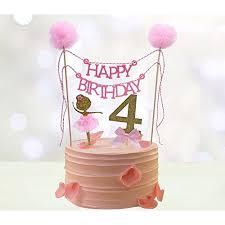 Fourth Birthday Cake Toppers Happy Birthday