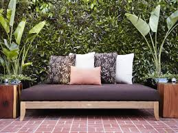 Black Outdoor Daybed Mattress Floral Pillowcases And Pink And White  Pillowcases Patio Decoration And Furniture Ideas Natural Finished Teakwood