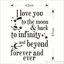Quote I Love You To The Moon And Back Extraordinary I Love You To The Moon And Back Quotes Wall Stickers Decal Words