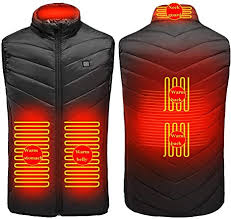 Heated Vest <b>Smart 5</b>-<b>Zone Heating</b> Vest USB Rechargeable ...