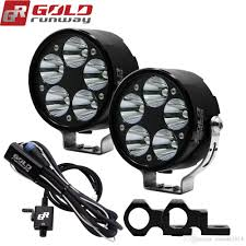 Motorbike Fog Lights 2019 Universal Motorcycle Fog Light Cree U3 Led 3 Modes Auxiliary Lamp 10 30v Motorbike Headlight Truck Spot Light With Mounting Clamps From