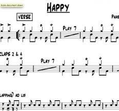 Drum Charts Happy Pharrell Williams Drum Chart Quickgigcharts