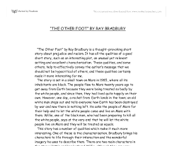 ray bradbury essays cruel angel thesis sheet music resume example  the other foot by ray bradbury gcse english marked by document image preview