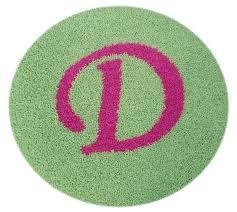 solid monogram round rug zoom