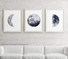 moon phase art canvas moon wall art