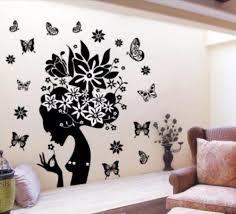 hot diy wall art decal decoration fashion romantic flower wall inspiration of wall sticker printing