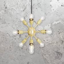 sputnik 12 light ceiling pendant complete with olive green shades and gold backed metallic lining we have a variety of heritage colours to choose