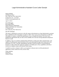 Administrative Assistant Cover Letter No Experience All For Job With