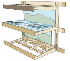 to accomplish all this it was necessary to deviate from my original construction plan for the lower deck the foam on plywood base was replaced by
