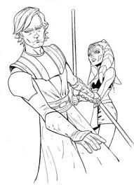 Ahsoka And Anakin Star Wars Coloring Pages The Clone Wars And