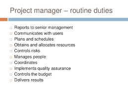 Project Manager Duties Roles Of Project Managers In Oe