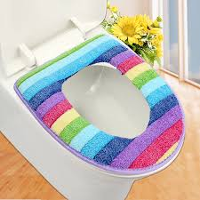 cushioned toilet seat covers. bathroom set colorful toilet cover wc seat bath mat holder closestool lid cushion zh01082-in from home cushioned covers