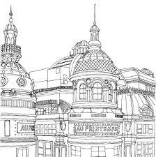 Secret Paris Color Your Way To Calm Zoe De Las Cases Free Coloring Pages Print City Scene Coloring Page L