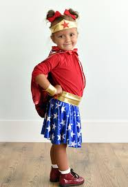 Wonder Woman Costume Pattern Gorgeous Wonder Woman Costume Pattern For Kids Crazy Little Projects