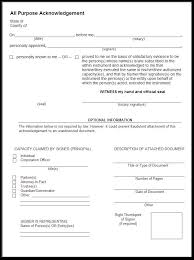 Sample Of A Notary Acknowledgement Acknowledgment Sample