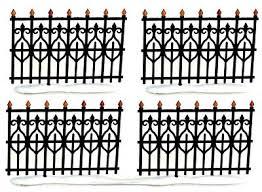 wrought iron fence victorian. Dept 56 Village - Victorian Wrought Iron Fence Extensions Set 4 52531 New Wrought Iron Fence Victorian