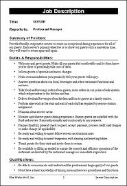 Dishwasher Job Description Resume Template Ideas
