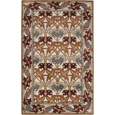 5x8 arts crafts mission style ivory wool area rug wool craftsman style area rugs for