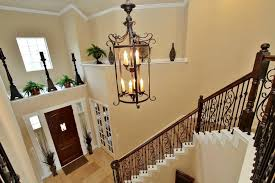 image of rustic foyer lighting