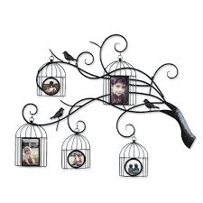 adeco decorative family tree bronze metal wall haning collage picture frame