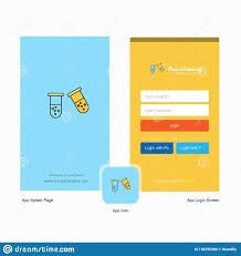 Design Me A Logo Online Free Company Test Tube Splash Screen And Login Page Design With