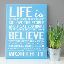 Life Canvas Quote
