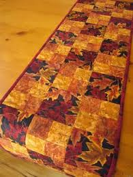fall table runner   Autumn Blaze Quilted Table Runner   To Sew or ... & Fall Table Runner Handmade Quilted Leaves by PatchworkMountain, $36.00 Adamdwight.com