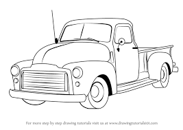 Learn How to Draw a GMC Pickup Truck (Trucks) Step by Step : Drawing ...