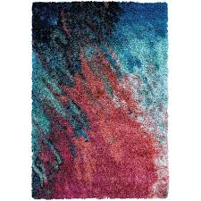 sunset red turquoise area rug and wrought studio