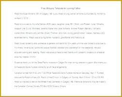 3 Sample Obituary For Dad Templates Father Free Word Excel Great ...