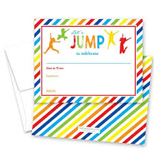 kids birthday party invitations 24 jump bounce fill in kids birthday party invitations