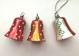 Antiker Christbaumschmuck Glocke Glas Weihnachtsschmuck