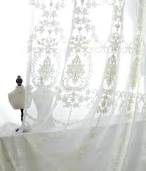 off white sheer curtains a pair of white sheer curtains made to order embroidered ivory cream off white sheer curtains