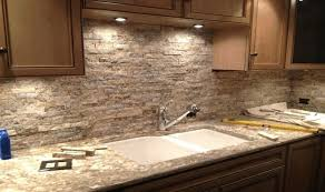stone veneer kitchen backsplash. Brilliant Stone Stone Backsplash  Inside Stone Veneer Kitchen Backsplash E
