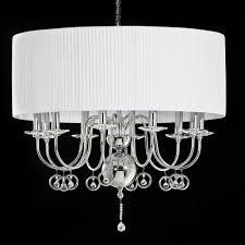 modern polished chrome crystal chandelier