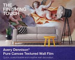 "Avery Dennison® MPI 2631 Canvas Textured Wall Film, Removable, 54"" x 25  Yards: PressLabel.com, Adhesive Paper and Film, Custom Labels"
