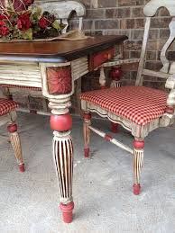 french country dining room painted furniture. beautiful french french country painted dining set with red checked seats by sisters revamp  ranch in dining room painted furniture o