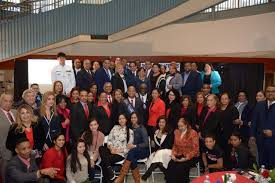 danr president alejandro benjamin is joined by members of the dominican american national roundtable the national dominican american council