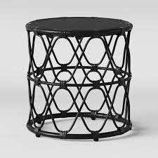These tables will have a lid that lifts and may provide large amounts of storage space within them. Opalhouse Jewel Round Black Rattan Side Table
