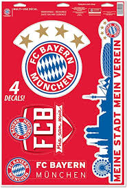 At gladbach friendly and fc bayern team presentation vaccine bus at the allianz arena on wednesday 4 august, fc. Amazon Com Bayern Munich Fc Set Of 4 Licensed Decals The Poster Alternative Clothing