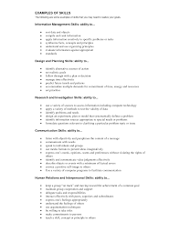 Best Resume Skills And Abilities Examples Photos Example Resume