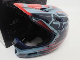 New Fox Rampage Comp Dh Mtb Full Face Cycling Helmet Size L 59 60cm Reno Navy