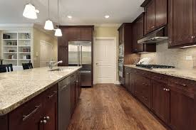 dark kitchen cabinet ideas. Wonderful Dark These Wooden Cabinets Are Very Traditional In Color And Style But Silver  Appliances Cabinet In Dark Kitchen Cabinet Ideas