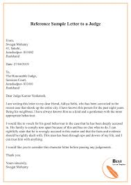 Character Reference Letter To Judge Format Sample Example